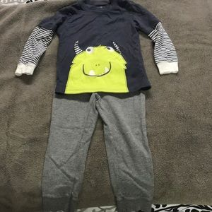 Boys 3T Monster outfit